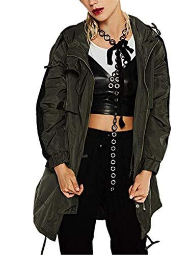 Bouffant Automne El Manches Longues Fashion Femme avec Zip Veste A Loisir Printemps Coupe Capuche Vent qFnY6I