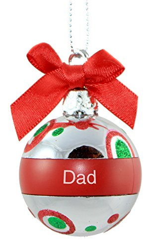 Ganz Personalized Mini Round Plastic Christmas Ornament; Dad