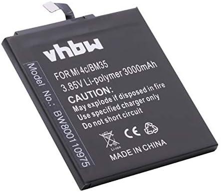 vhbw Li-Polymer batería 3000mAh (3.85V) para teléfono móvil Smartphone teléfono Xiaomi Mi 4C, 4C Dual Sim por BM35.: Amazon.es: Electrónica