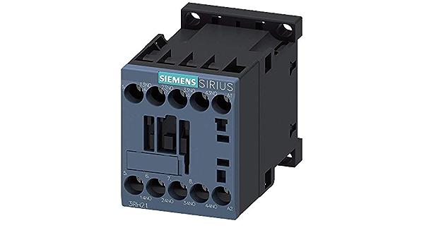 120VAC SIEMENS 3RH21401AK60 IEC Control Relay Screw Terminal 4NO Size S00