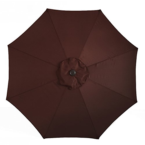 41aFuVyvb9L - Le Papillon 9 ft 8 Ribs Patio Umbrella Replacement Top Cover, Coffee