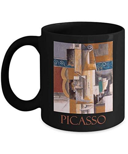 Guitar and Violin by Pablo Picasso - Ceramic Coffee Mug ()