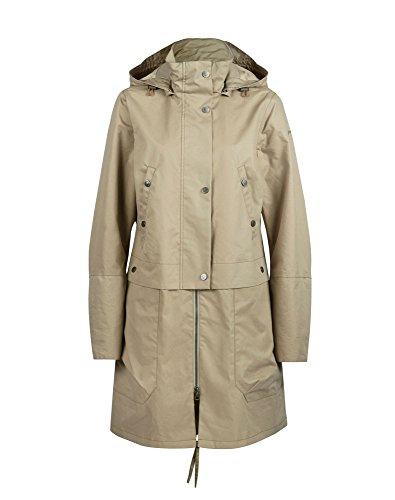 finside sinnika Zip en Jacket Women Atlantic 2016Lluvia Chaqueta marrón claro