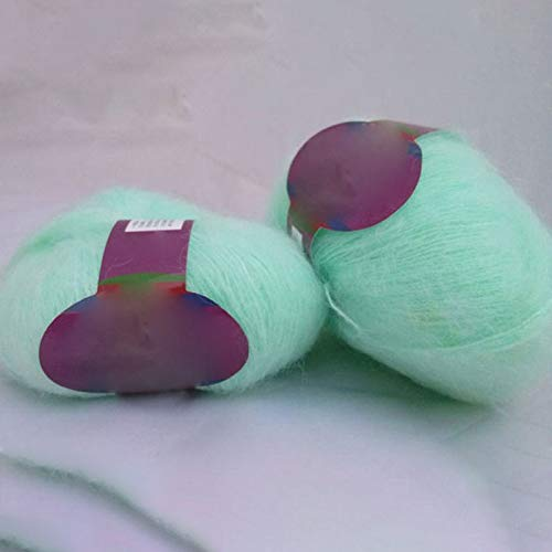 Diy Knitting - Worsted Soft Thin Mohair Yarn Plush Wool Cashmere Hand Knitting Crochet Thread Diy Shawl Scarf - Kits Crochet Knitting Beginners Bottom Nail Blanket Bags Machine ()
