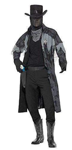 Victorian Men's Costumes: Mad Hatter, Rhet Butler, Willy Wonka Smiffys Mens Ghost Town Phantom Sheriff Costume $98.48 AT vintagedancer.com