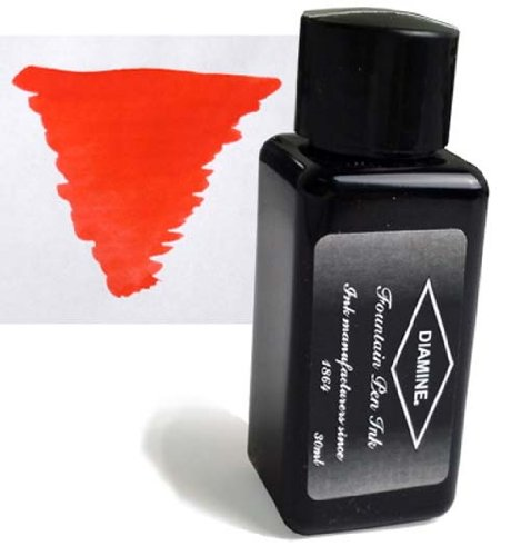 (Diamine Refills Poppy Red 30mL Bottled Ink - DM-3055)