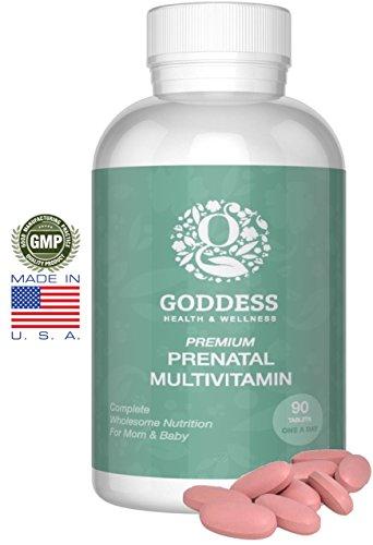 Премиум витамины (90 Count - 3 месяца поставки) Просто одна таблетка в день - 800 мг Фолиевая кислота - Нет Соя, глютен - не Сформулированные поощрять здоровую беременность - Нет Тошнота, удивительные для здоровых волос, ногтей и кожи