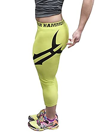 "War Hammer ""MOTION"" Capri Pants LIME (XSmall)"