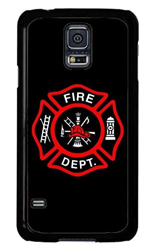 Cell World LLC - Firefighter Fire Rescue dept. Fireman Red Logo .ck Case Cover Hard Rubber Black Case Cover Compatible with Samsung Galaxy Note 10 + Plus (6.8 Inch 2019 Model) (Best Nhl Fighters 2019)