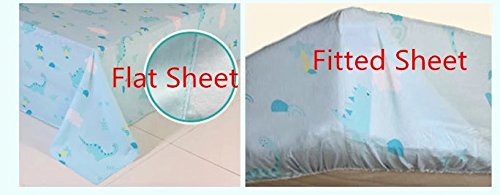 HNNSI 4 Piece Cotton Dinosaur Kids Boys Bedding Sets Queen Size, Dinosaur Kids Duvet Cover with Fitted Bed Sheet, Dinosaur Quilt /Comforter Cover for Children Teens (Queen, Fitted Sheet Set) by HNNSI (Image #3)