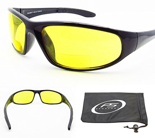 Reading glasses 2.5 with ANS Z87 Polycarbonate Yellow Lens with Microfiber Cleaning Case