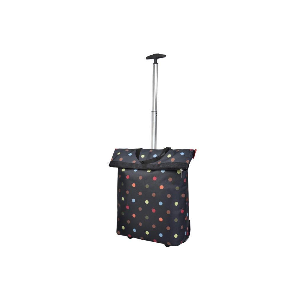 YQCS●LS ショッピングカート - 大容量ポータブル小型カート - 高さ調節可能 - 荷物食料品カート - ユニセックス B07SPTMSCB