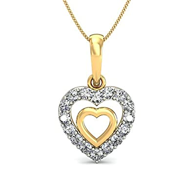 245e5528ae Buy Belle Diamante 18KT Yellow Gold and Diamond Pendant for Women Online at  Low Prices in India