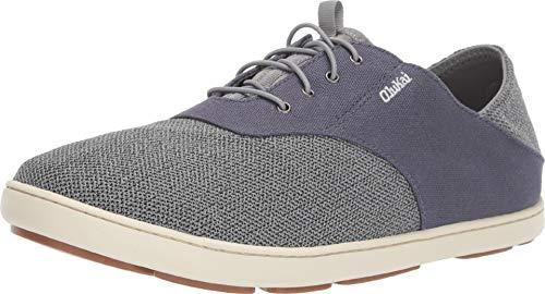 New Stretch Lace Booty - OLUKAI New Men's Nohea Moku Sneaker Tradewind Grey/Cloud Grey 11