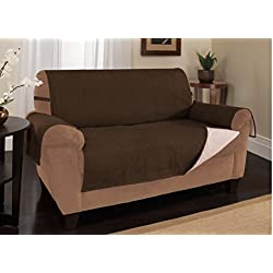 Furniture Fresh - New and Improved Anti-Slip Grip Furniture Protector with Stay Put Straps and Water Resistant Microsuede Fabric (XL Sofa, Chocolate)