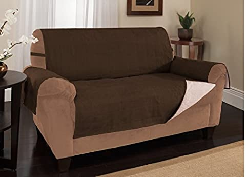 Furniture Fresh - New and Improved Anti-Slip Grip Furniture Protector with Stay Put Straps and Water Resistant Microsuede Fabric (XL Sofa, (Couch Cover Ottoman)