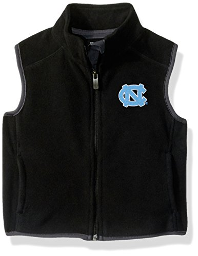 NCAA North Carolina Tar Heels Kids & Youth Boys Scrimmage Polar Fleece Vest, Black, Youth X-Large(18) by NCAA by Outerstuff