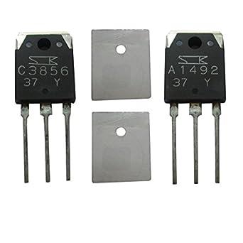 1 par de 2sc3856 + 2sa1492 NPN + Amplificador de potencia de audio transistor PNP