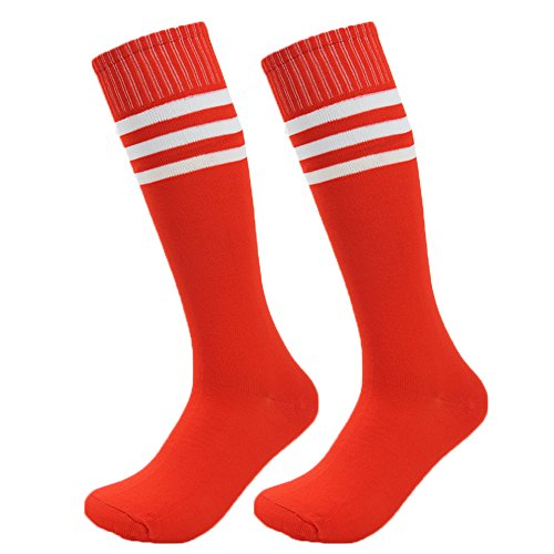 [Fasoar Men's Ladies Cotton Thigh-Highs Socks Stockings Sexy and Elegant Pack of 2 , Red, One Size] (Sexy Men In Uniform)