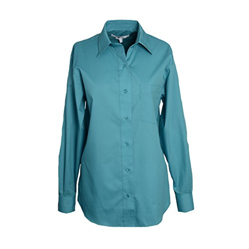 - Foxcroft Woman's Plus Sized Long Sleeve CVC Solid Blouse (Teal Haze, 24 Plus)