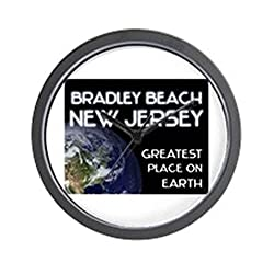 CafePress - bradley beach new jersey - greatest place on earth - Unique Decorative 10 Wall Clock