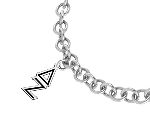Delta Zeta Black Enamel Lavaliere Link Bracelet