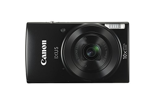 Canon IXUS 190 Compact 20 MP Digital Camera, 1/2.3 Inch, CCD, 5152 x 3864 Pixels - Black