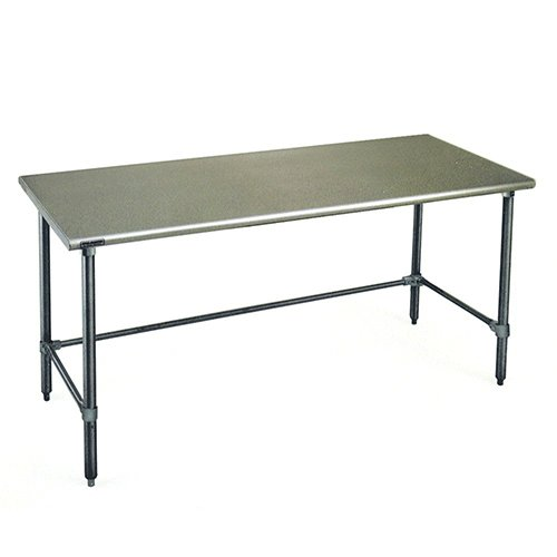 Table Stainless Steel Solid Top (Eagle T3672STB Stainless Steel Work Table with Stainless Steel Tube Base, 36