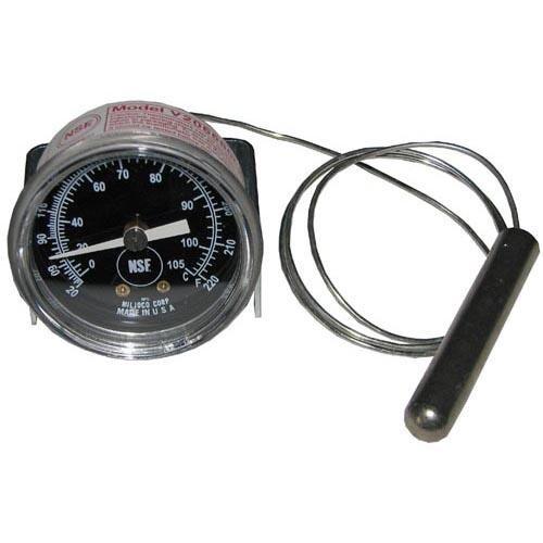 Crescor 5238-030-K Thermometer Temp 20-220F Bulb 7/16 X 2-1/2 U-Clamp Warmer H339135 621066