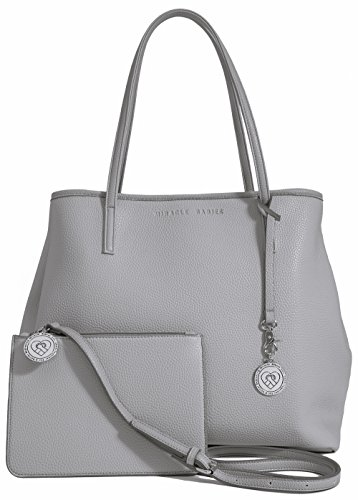 Vegan Leather Tote for Women - Large Ladies Handbag Bag Purse with Bonus Gift Cross Body Pouch Included - Dove Grey