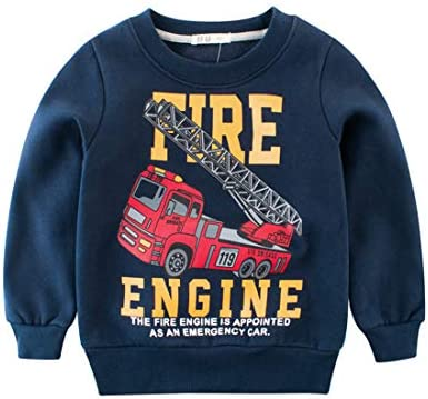 Fairy Baby Toddler Boy Winter Cartoon Cotton Sweatshirt Casual Fleece Outfit Kid Top Shirt
