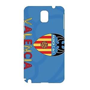 3D Customized Style Cyan Blue Hard Plastic Phone Case For Samsung Galaxy Note 3 Valencia Football Club Logo Print Case Design For Boys