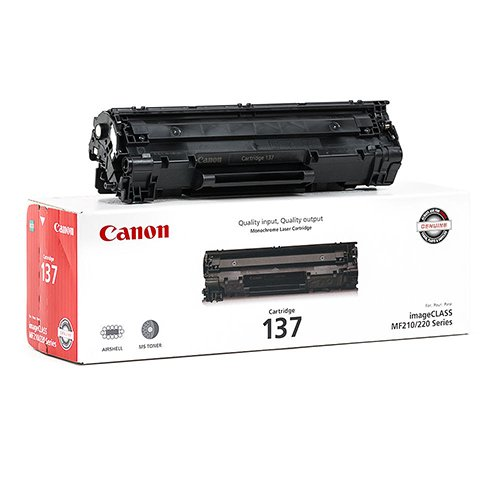 Genuine OEM Black Toner Cartridge Canon imageCLASS MF212w MF216n MF227dw MF229dw MF217w - CRG-137 9435B001AA - Yield 2,400