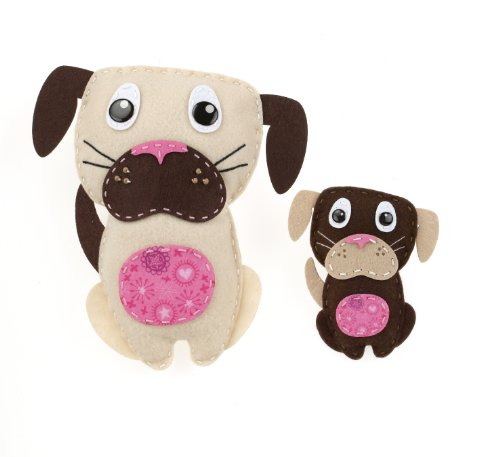 American Girl Crafts Dogs Sew and Stuff - Felt Dog Stickers