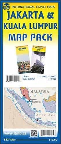 Map Of Asia Jakarta.Map Pack Jakarta Kuala Lumpur Itmb Publishing Ltd