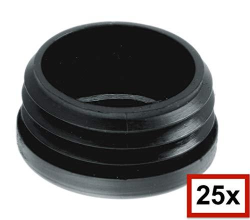tapones de l/áminas tapones redondos deslizadores de muebles Negro 45 mm hasta 102 mm 25 unidades de tapones redondos de tubo tapas protectoras todos los tama/ños a elegir