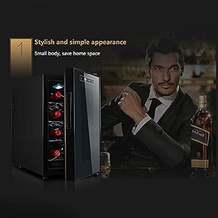 SHENXINCI Vinotecas 8 Botellas Bodega / 70W Gabinete de Vino a Temperatura Constante,con Estantes E Iluminación LED,11~18 ° C,múltiples Estilos(23L)