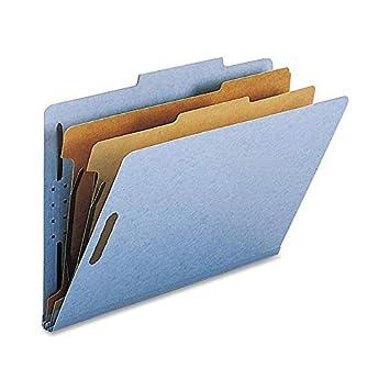 Nature Saver Classification Folder -Legal -8.50-Inch x14-Inch -2-Inch Folder Fastener Capacity -2 Dividers -25 pt. -Dark Blue -10/Box NATSP17228