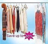 vacuum hanger bags - 4 PACK Space Saver Hanging type Vacuum Storage Bags Suit Garment Protector