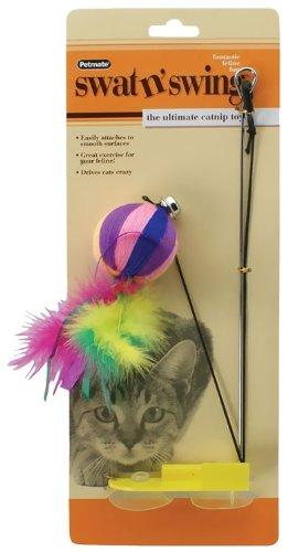 Petmate Swat N Swing Interactive Cat Toy, Yarn Ball, My Pet Supplies