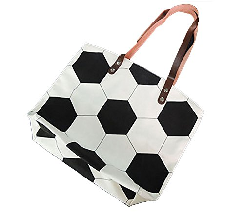 H&N Large Football Tote Bag Sports Printing Utility Top Handle Casual Shoulder Bag - Shipping Shopping Usa Online Free