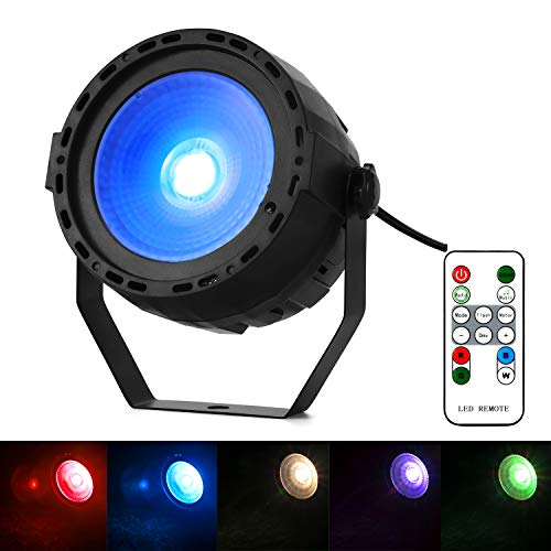 Stage Wash Light, MFL LED Par Light with Super Bright COB RGB Par via Remote DMX Control for Wedding Church Party Show Club]()