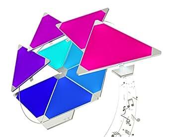 Nanoleaf Rhythm Larger Kit – 15 x Modular Inteligente LED & Módulo Integriert, 2 W, 16.7 Millionen Farben, 13.7 x 29.5 x 11.0 cm