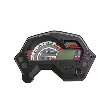 amazon com motorcycle tachometer fz16 speedometer new abs lcd panel