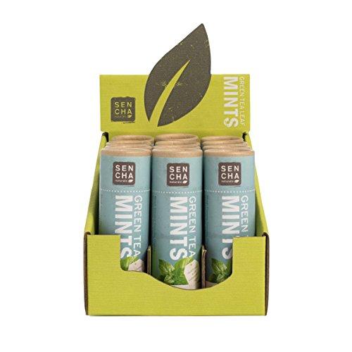 (Sencha Naturals Green Tea Mints Eco-Tube, Sage Peppermint, 0.75 Ounce (Pack of 12))