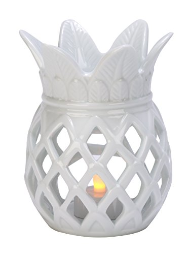 Porcelain Pineapple (Biedermann & Sons Porcelain Pineapple Tealight Holder, White)
