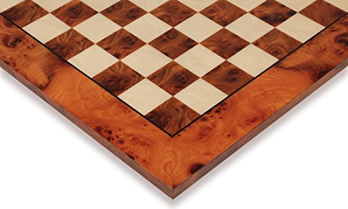 Root Chess Board - Elm Root & Maple Deluxe Chess Board - 2.375