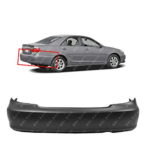 MBI AUTO - Primered, Rear Bumper Cover Replacement for 2002-2006 Toyota Camry USA Built 02-06, TO1100203