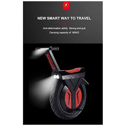 YUHT Monocycle électrique, 17″60V / 500W, Scooter électrique, 30KM / 60KM / 90KM avec Haut-Parleur Bluetooth, Scooter électrique, Adulte Unisexe Gyroroue, Cadeau (Taille: 90km, Couleur: