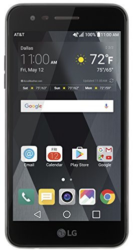 AT&T GoPhone LG Phoenix 3 4G LTE with 16GB Memory Prepaid Cell Phone - Black (Cell Phones At And T)
